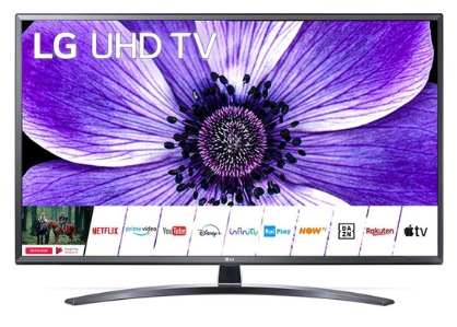 LG 49UN74006LB (49'') 4K Ultra HD Smart TV Wi-Fi Zwart