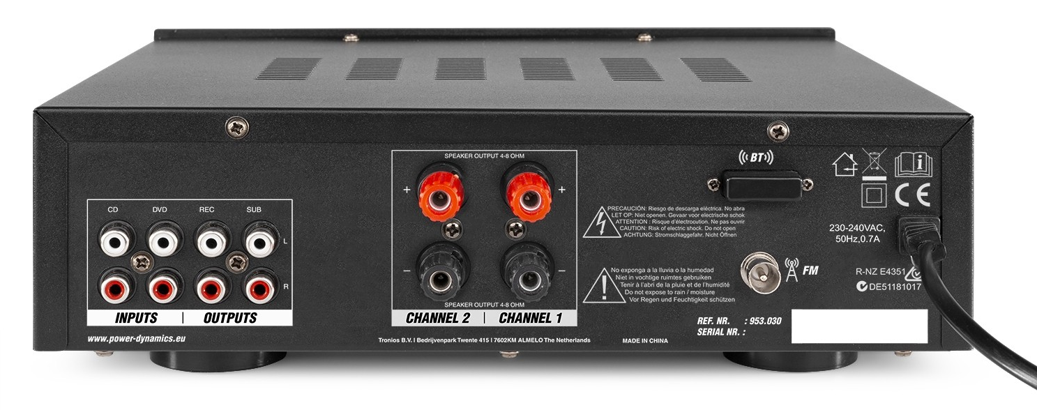PV220BT AUDIO AMPLIFIER SYSTEM 100W