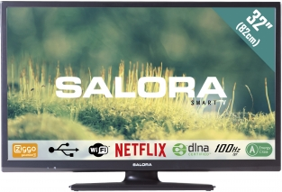 "Salora smart-LED TV 32EHS2000 SALORA 32EHS2000 32"" (82CM) SMART LED TV met Wifi, Netflix, 100Hz BPR en USB mediaspeler Met de 32EHS2000 haalt u een compleet uitgeruste 32"" (82CM) internet televisie in huis. Dit Ziggo gecertificeerde CI+ model"